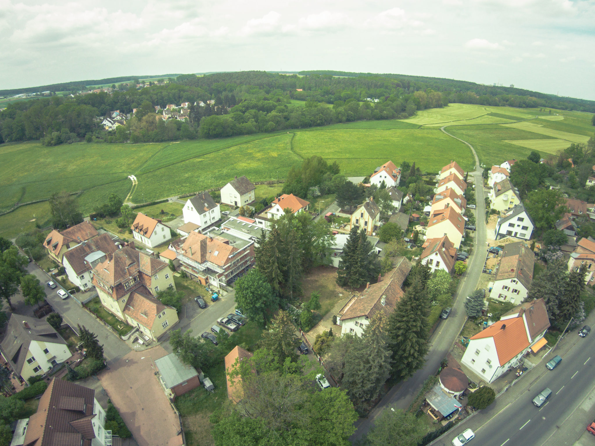 Luftansicht unseres Grundstücks in Nürnberg Reichelsdorf