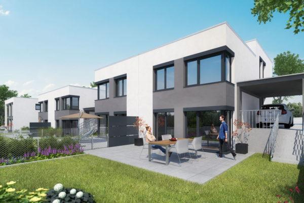 Visualisierung unserer Doppelhaushälften in Fürth Hardhöhe