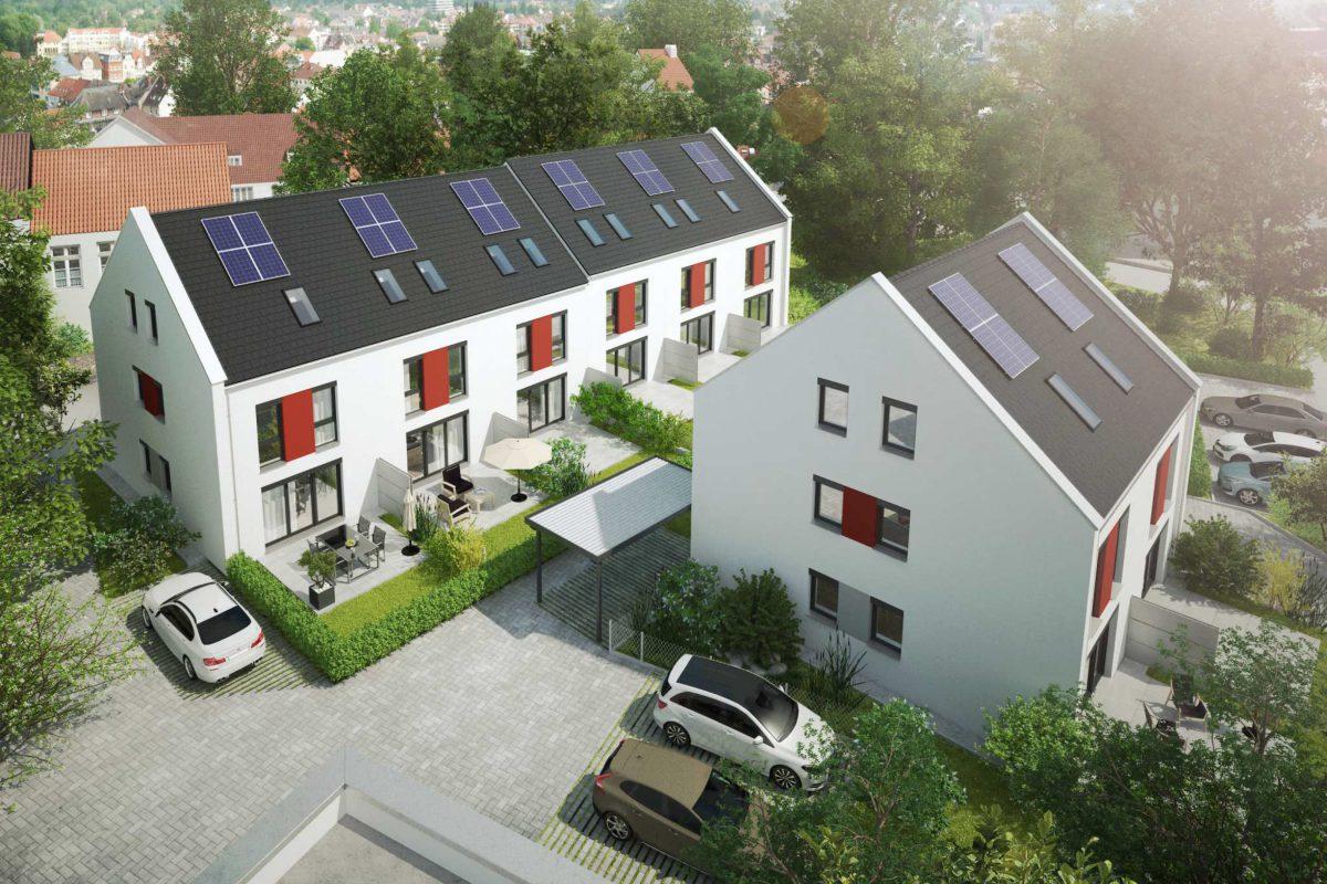 Visualisierung unserer Reihenhäuser und Doppelhaushälften in Nürnberg Reichelsdorf