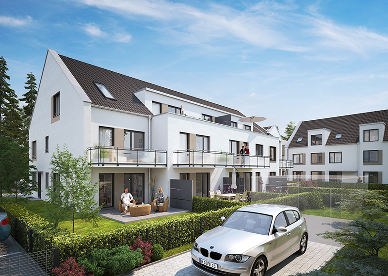 Illustrative Darstellung der Eigentumswohnungen in Nürnberg Katzwang